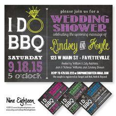 I Do BBQ Wedding or Bridal Shower. Custom by NineEighteen on Etsy, $12.00