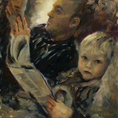 Morning Ritual by artist Judy Gelfert. #oilpainting found on the FASO Daily Art Show - http://dailyartshow.faso.com