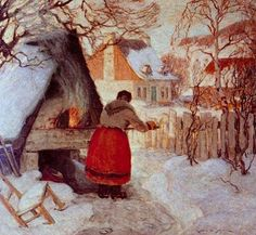 Clarence Gagnon(1881ー1942)Follow the biggest painting board on Pinterest: www.pinterest.com/atelierbeauvoir