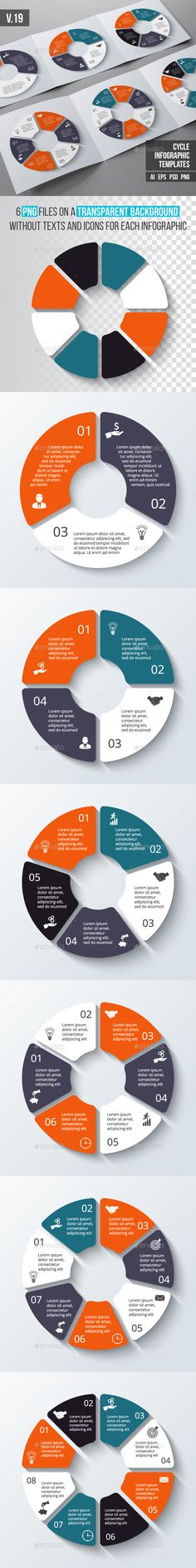 Infographics Template Set - PSD, Transparent PNG, Vector EPS, AI Illustrator