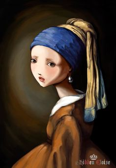"lovely interpretation of the classic painting ""The Girl with the Pearl Earring"""