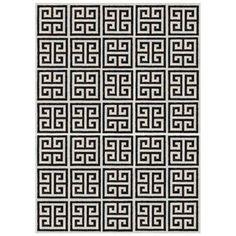 Jonathan Adler Greek Key Rug Black Rugschinese Interiormodern Area
