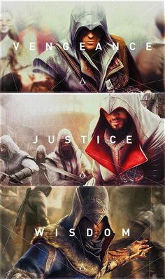 Ezio was the best assassin of them all <—— Bruh I don't want to start a war but I really wish we'd seen more of Altaïr because that would have been interesting Assasing Creed, All Assassin's Creed, Assassins Creed Quotes, Assassin's Creed Wallpaper, Wallpaper Art, Marvel, Halo, Xbox, Playstation