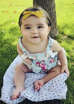 FREE US SHIPPING! UP TO 70% OFF! Adorable Romper you can dress up or down. Light + comfy! Perfectly floral print. Precious lace along back and neck. Great for warmer weather. Elastic leg holes to grow with baby. Baby girl, baby fashion, babies, Lenny Lemons, Babies and Toddler Apparel #lennylemons #babygirl #babiesapparel