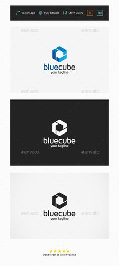 Blue Cube Logo — Vector EPS #package #app • Available here → https://graphicriver.net/item/blue-cube-logo/6348141?ref=pxcr