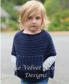 Crochet Pattern Osyan Cape Pullover 2/3 4/5 6/7 by Thevelvetacorn