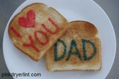 """Pink Dryer Lint: Nothing Says """"I Love You"""" Quite Like Painted Toast"""