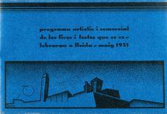 «Programa artístic i comercial de les fires que es celebraran a Lleida», Enric Crous-Vidal, 1931. Offset sobre paper, 12,1 x 17 x 0,4 cm. MAMLL 1519 | © Enric Crous-Vidal