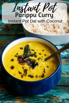 Delicious, creamy yellow dal with coconut, the Kerala Style Parippu Curry made easily in the Instant Pot. Dal or lentil curry is such a simple, comforting Best Vegetable Recipes, Vegetarian Recipes, Lentil Recipes, Curry Recipes, Delicious Recipes, Indian Food Recipes, Asian Recipes, Kerala Recipes, Cooking Curry