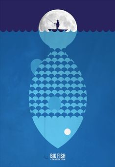 Big Fish (2003) ~ Minimal Movie Poster by Javier Lainez #amusementphile