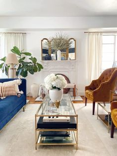 Coffee Table Vase, Large White Vase, White Metal Chairs, Gold Stool, Tv Decor, Fireplace Mantle, Home Decor Inspiration, Home Interior Design, Pinterest Board