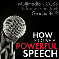Help your advanced middle school and high school students identify and analyze the elements of powerful public speaking with these multimedia lesson materials.