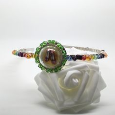 Over the Rainbow, Wizard of Oz inspired glass beaded Alice band - £19.50 - now avaiable from my on-line shop, here: https://folksy.com/items/6899314-Over-the-Rainbow-Wizard-of-Oz-inspired-glass-beaded-Alice-band-Hair-band