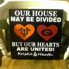 House divided handmade wood sign pick your teams by HomeDco, $32.50