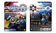 "Techno Titans toybox ""Machine Kyo"" front/back"