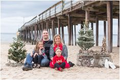 Christmas Photo Shoot at the Beach by Jami Thompson.