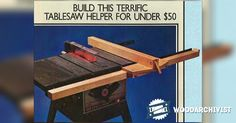 Table Saw Rip Fence - Table Saw Tips, Jigs and Fixtures | WoodArchivist.com