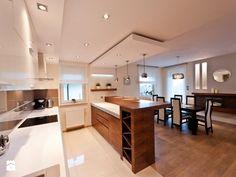 Mieszkanie Kraków realizacja - Średnia otwarta kuchnia dwurzędowa z wyspą, styl nowoczesny - zdjęcie od All Design Agnieszka Lorenc