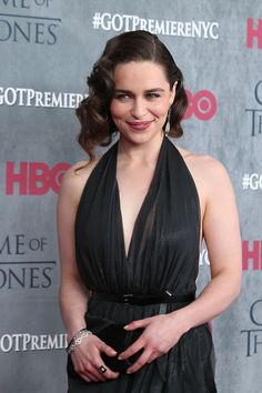 Emilia Clarke at premiere of season 4 of Game of Thrones