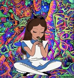 Hipster Wallpaper, Spiritual Art, Drawings, Deep Art, Psychedelic Artwork, Art, Cartoon Profile Pictures, Pop Art, Alice In Wonderland