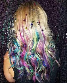 7 luscious Cotton Candy Hair Color Unicorns 2019 : Don't miss! Cute Hair Colors, Hair Color Purple, Hair Dye Colors, Cool Hair Color, Hair Color For Kids, Peekaboo Hair Colors, Neon Purple, Chocolate Cherry Hair Color, Unicorn Hair Color