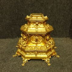 outstanding french gilt bronze table jewellery casket