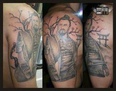 Samurai Warrior Tattoo!!!  #guerreiro #tattoo #oriental #warrior #japanese #tattoo #samurai #warrior #tatuagem