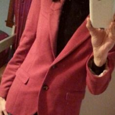 H&M Blazer-literally worn once Deep burgundy blazer with elbow patches,  size US 12 but runs very small...I normally wear a 4 (but I'm tall... 5'9) H&M Jackets & Coats Blazers