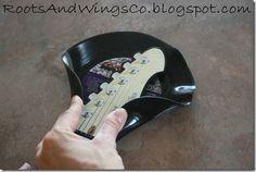 vinyl record guitar holder music room b