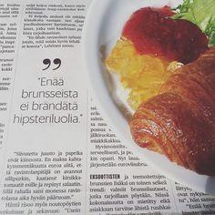 No ei todella, terkut Ekbergiltä. Tosin täällä on kaikki trendsettermummot, että tavallaan. Lue haastikseni päivän Nyt-liitteestä, jippii! Bali, Meat, Food, Essen, Meals, Yemek, Eten
