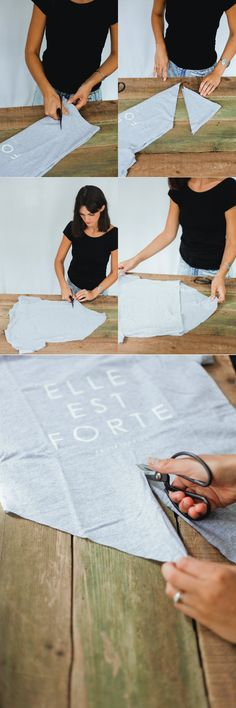 how to cut the perfect tie up tee!