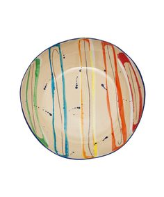 Multicolour Paint Print Pasta Bowl. Shop more bowls from the Kitchen and Dining collection online at Liberty.co.uk