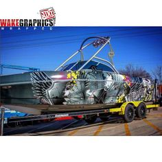 This Tige boat is summer ready wrapped in 3M IJ180C & 8518 by Wake Graphics, www.wakegraphics.com
