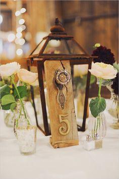 rustic charm door knob table numbers
