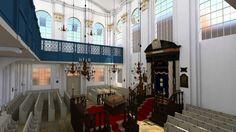 3D reconstructie van het interieur van de Synagoge aan de Boompjes (Rotterdam, 1725 – 14 mei 1940)