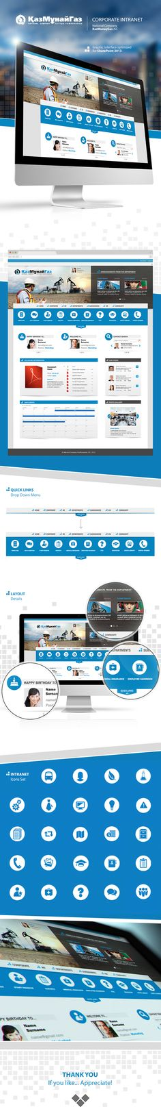 Graphic Layout Interface - CORPORATE INTRANET on Behance