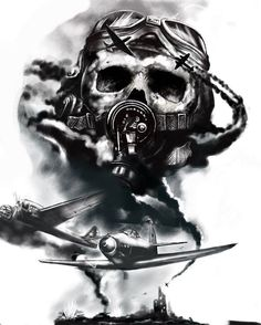 Mais de 100 Desenhos para Tatuagens Realistas   Tatuagens - Ideias Army Tattoos, Military Tattoos, Skull Tattoos, Body Art Tattoos, Sleeve Tattoos, Gas Mask Art, Masks Art, Tattoo Sketches, Tattoo Drawings