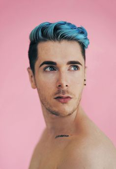 blue hair, men
