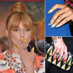 Celebrity Nail Art Bright Fun Nails Dope
