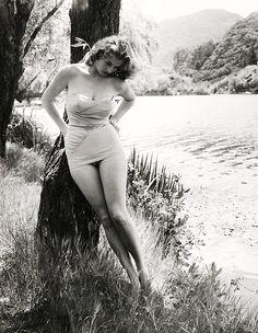 Anita Ekberg photographed by Peter Basch, 1956