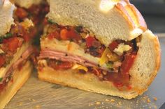 Perfect Picnic Sandwich--make the day before a picnic or camping