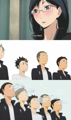 Haikyuu!! - very funny moment lol what .. i love her eyes though simple but not as much as im used to :)