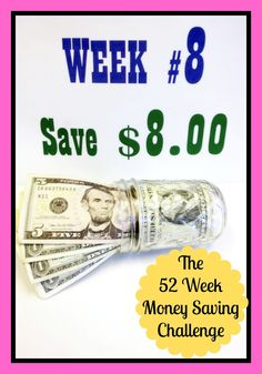 The 52 Week Money Saving Challenge - Week #8 - save eight dollars - Celebrate Presidents Day by saving some Washingtons and some Lincolns - the easiest way I know to actually have an extra thousand dollars cash by the end of the year - seriously!