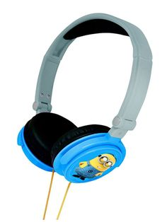 Despicable Me Minions Foldable Stereo Headphones 100 official merchandise Great design features the loveable Minions Light enough to take anywhere
