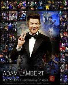 """Poster for Thackerville, Adam Lambert concert. Unofficial. Made for """"ADAM FANS BY ADAM FANS"""""""