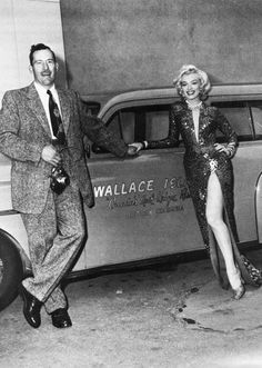 David Conover, the photographer who discovered Marilyn Monroe, visits her on the set of Gentlemen Prefer Blondes, 1953