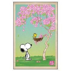 Woodstock in the Cherry Blossoms Large Poster > Woodstock Cherry Blossoms > Snoopy Store