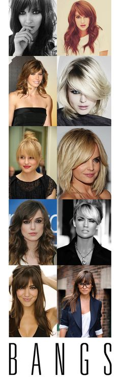 Bangs! I've been wanting bold bangs since Nicole Richie did it in 06