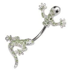 Body Accentz® Belly Button Ring Navel 316L Surgical Steel, Multigem, Lizard, In-N-Out, Animal, Split Belly Rings Body Jewelry Dangle 14 Gauge Body Accentz Belly Ring. $5.99