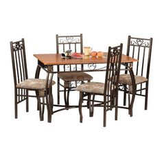 AuBergewohnlich Hazelwood Home 5 Piece Dinette Set | Wayfair